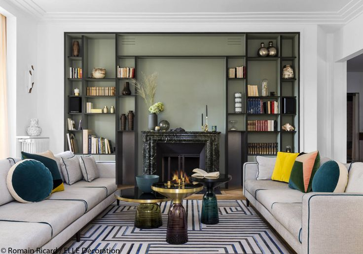 17 best Bibliothèque images on Pinterest Libraries, Living room - Comment Decorer Un Grand Mur