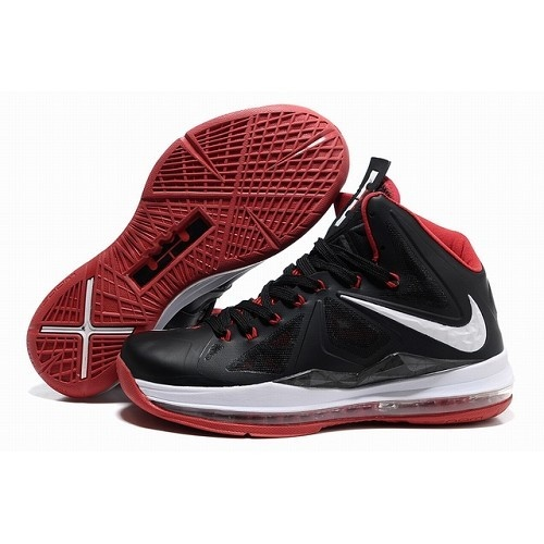 Nike Air Max LeBron James 10 X Men Black Red Basketball Shoes For $81.50 Go  To: http://www.cheapsneakersmart.com | Cheap Sneakers | Pinterest ...
