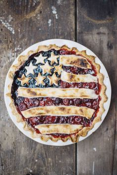 All-American Pie with Lemon Butter Crust: Everyone will be begging for a piece of this beautiful berry pie. Click through to find more five-course ideas for your 4th of July cookout menu.
