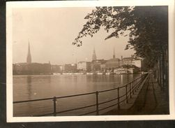 k2. Germany Hamburg Die Binnenalster unposted real photo postcard by Handabzug Hans Andres | For sale on Delcampe