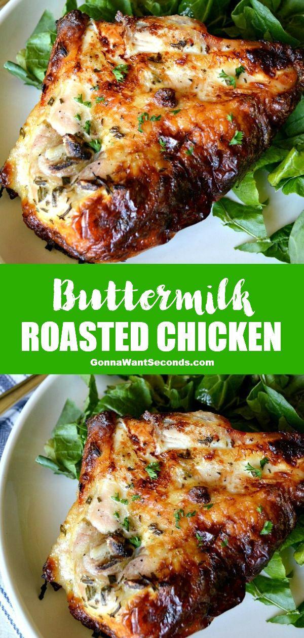 Buttermilk Roasted Chicken Recipe In 2020 Chicken Recipes Baked Chicken Recipes Roast Chicken Recipes