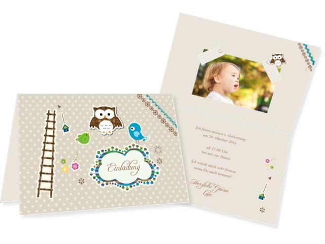Friends Einfachkarte 2-seitig 170x120mm braun, Geburtstag, Einladungskarten, Geburtstagskarten, Kindergeburtstag, Kids, Birthday,  Party, Birthdayparty