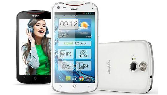 Los celulares Acer no se han escuchado mucho en el mercado, pero la empresa presenta el su nuevo celular con Android Acer Liquid E2. http://gabatek.com/2013/04/25/tecnologia/nuevo-celular-acer-liquid-e2-procesador-quad-core-1-2ghz-android-jelly-bean/