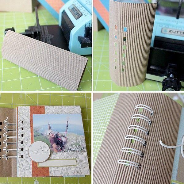 système de reliure avec une partie en carton ondulé : bonne idée