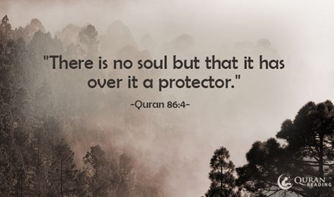 """""""There is no soul but that it has over it a protector."""" (Quran 86:4)"""