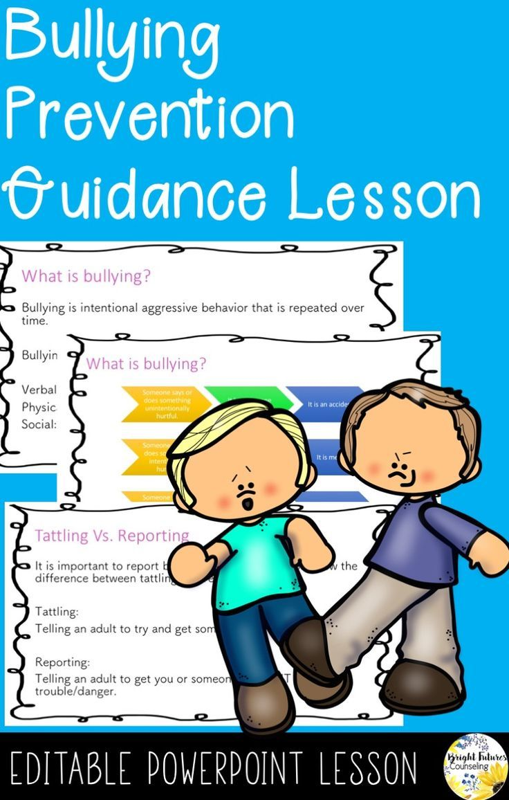 Bullying Prevention Guidance Lesson for elementary school