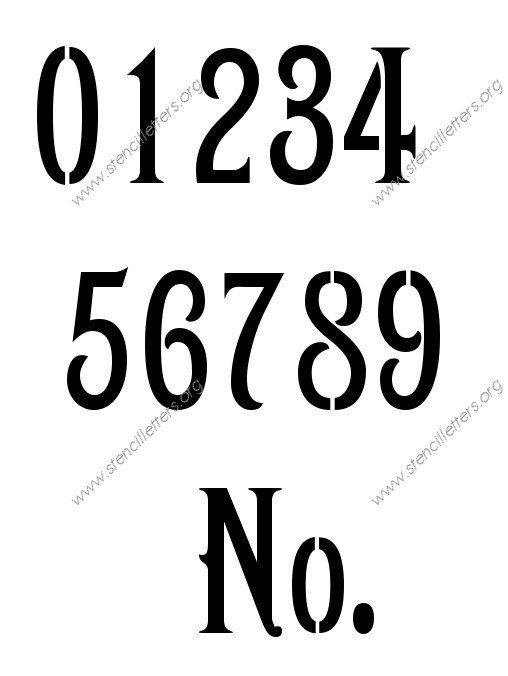 1800s Art Nouveau Number Stencil