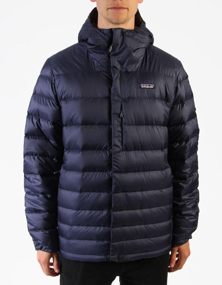 Patagonia Hi-Loft Down Sweater Hoody Jacket - Classic Navy