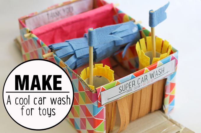 Play | Make a car wash for toy cars