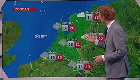 huishoek - kaart van nederland waar de kinderen weerpicto's op kunnen hangen en zo een weerbericht kunnen maken