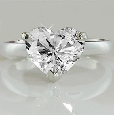 Heart shaped Diamond Ring...looks like the one karat solitaire ring I've been wanting!!
