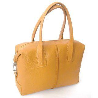 Echtleder-Handtasche gelb - ca. 32 cm x 34 cm