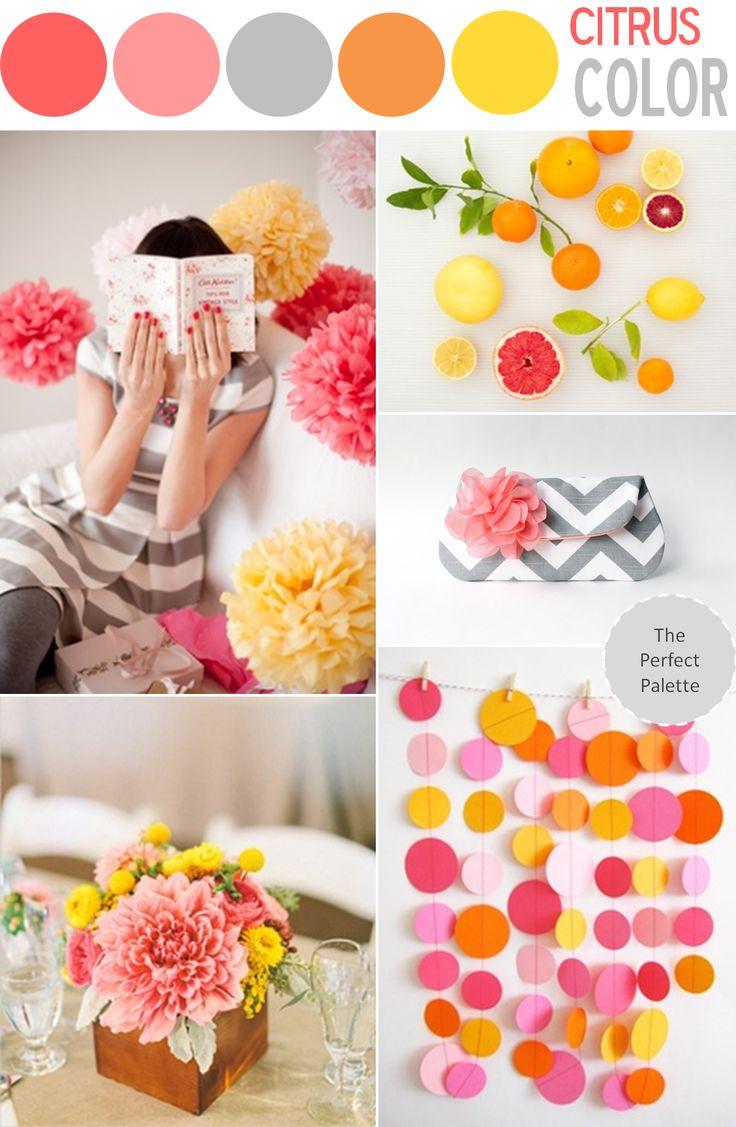 Color Story | Citrus Color! http://www.theperfectpalette.com/2013/06/color-story-citrus-color.html