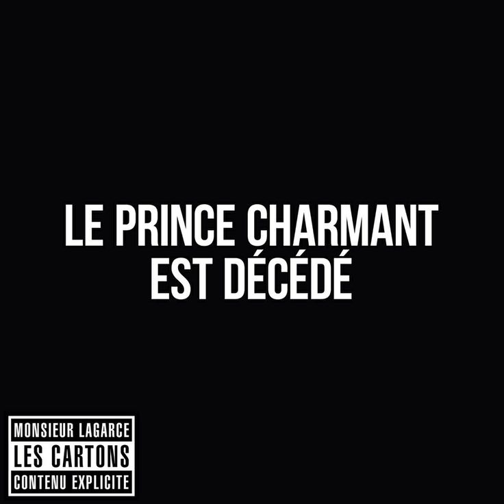 Le prince charmant est décédé...#LesCartons