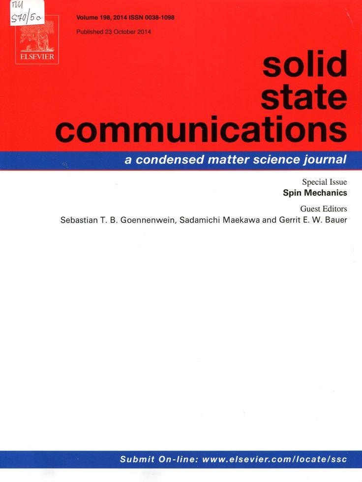 Публикации в журналах, наукометрической базы Scopus   Solid State Communications #Solid #State #Communications #Journals #публикация, #журнал, #публикациявжурнале #globalpublication #publication #статья