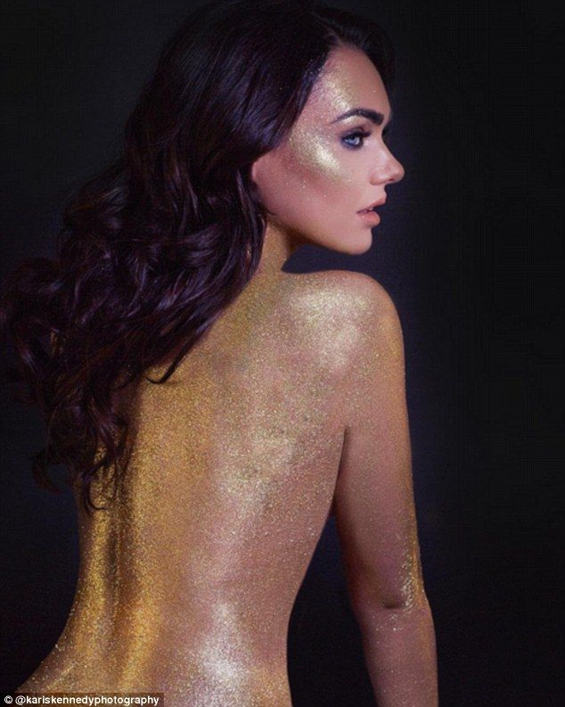 Golden girl:Tamara Ecclestone got into the spirit ahead of her New Year's Eve festivities...