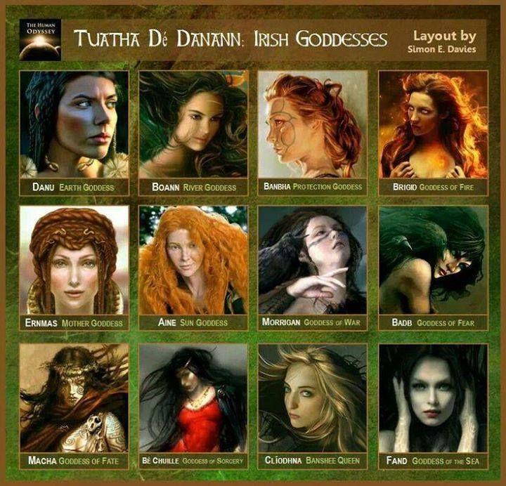 Tuatha Dé Danann  Irish Goddesses