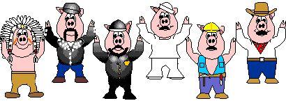 Animierte Tier Gifs: Schweine - Gif-Paradies