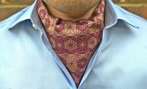 HARUKI Woven Silk Cravat #pocketsquare #cravat #pocketsquares #menswear #mens #fashion #mensfashion #mensstyle #groom #grooms #groomswear #wedding #weddings #weddingstyle #style #weddinginspiration #inspiration #styling #accessories #weddingcravat #silk #silksquare #madeinengland #madeinbritain #britishmade #cravatclub #japanese #geometric #pattern #cherry #red #artdeco