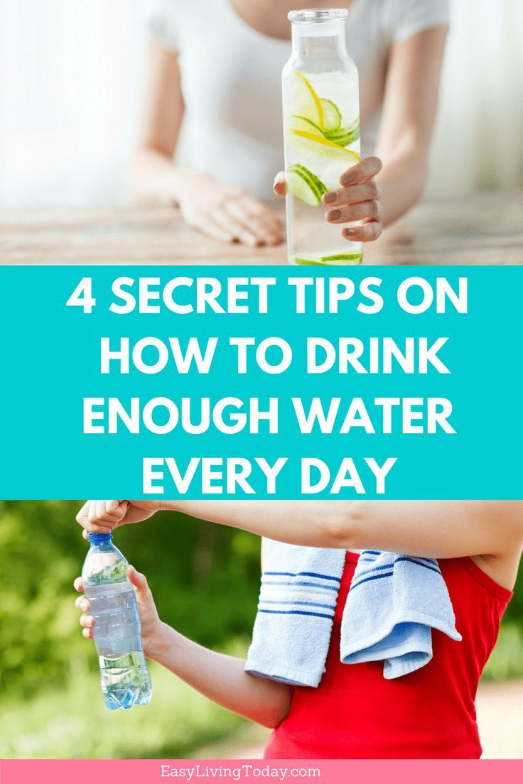 Ever wonder how to drink more water ever da? These 4 secret tips and ideas will help you drink enough water daily. This will aid in weight loss and help lose the belly. #hydration #fitness #waterintake via @easylivingtoday