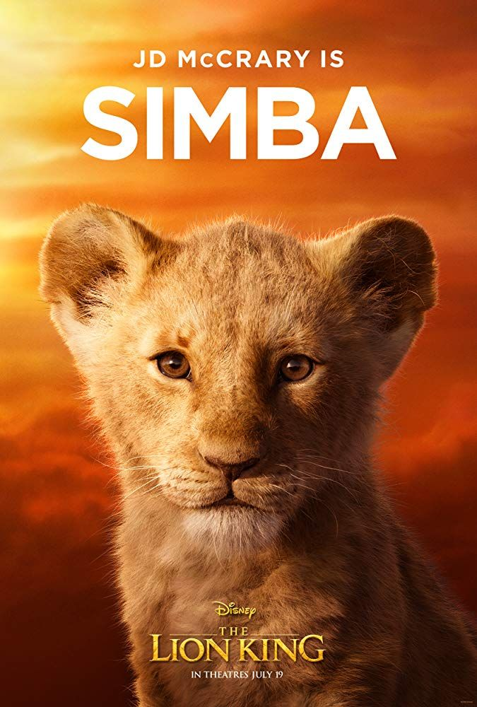 Jd Mccrary In The Lion King 2019 Lion King Poster Lion King Movie The Lion King Characters