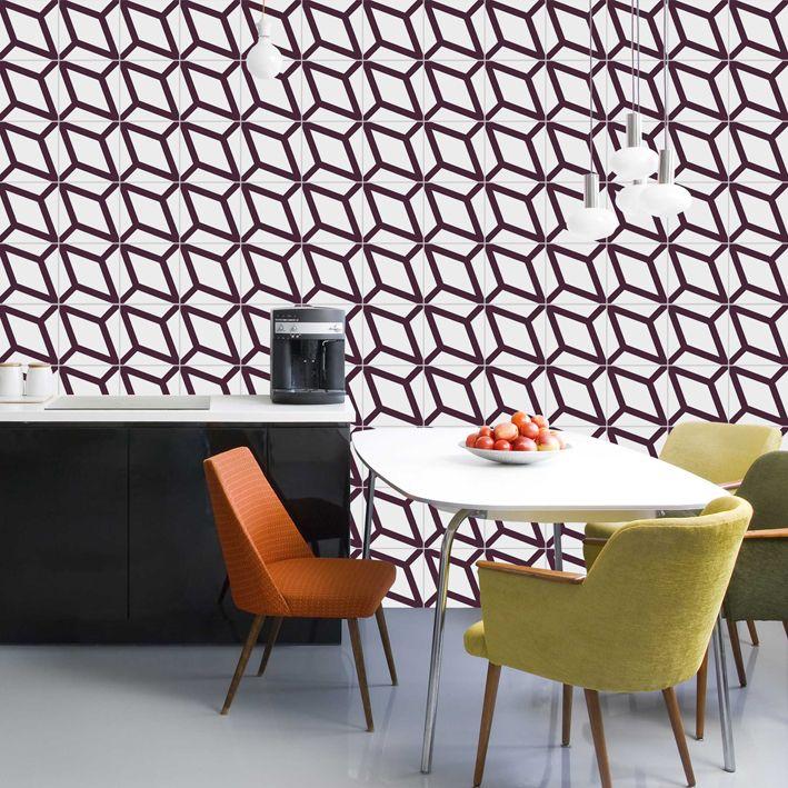 Lurca Azulejos - Coleção Modelo Polvo Roxo // Collection Polvo Purple Ceramic Tiles // Shop Online www.lurca.com.br/ #azulejos #azulejosdecorados #revestimentos #arquitetura #interiores #decor #design #sala #reforma #decoracao #geometria #casa #ceramica #architecture #decoration #decorate #style #home #homedecor #tiles #ceramictiles #homemade