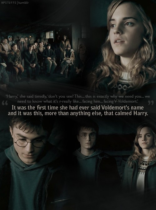 It was the first time she said voldemorts name #pottertime #mindhplove