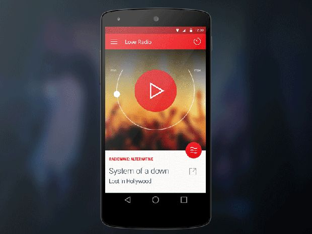 20 Awesome Android L App And Icon Design Concepts Material Design Radio Music Player App android