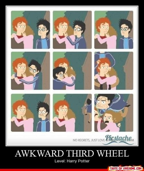 This made me laugh. It's so true.... He never realizes that he's most definitely the third wheel.