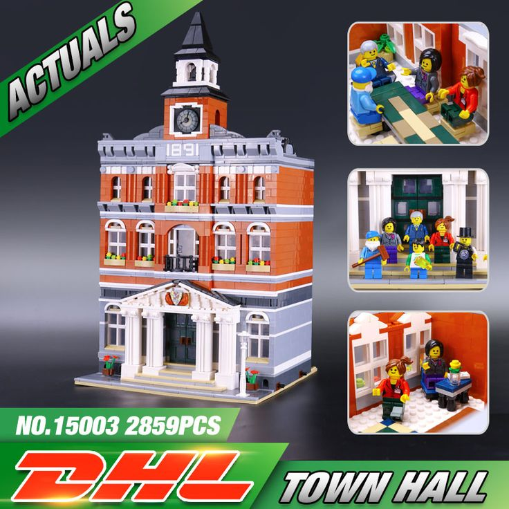 New 2859Pcs 2016 LEPIN 15003 Kid's Toys Creators The town hall Model Building Kits Minifigure Building Blocks legeo Bricks Gif #>=#>=#>=#>=#> Click on the pin to check out discount price, color, size, shipping, etc. Save and like it!