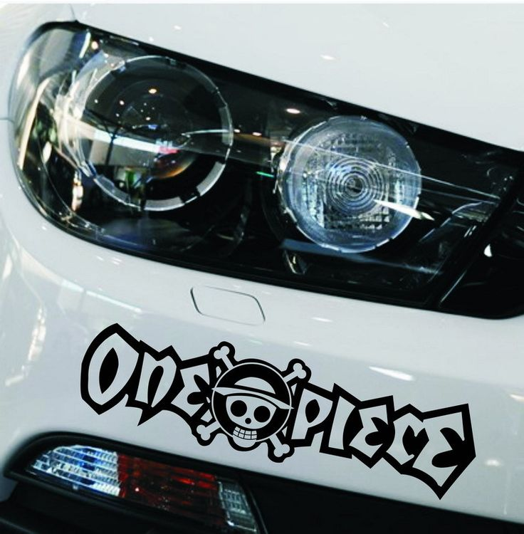 One Piece Car Bumper Sticker Decals Motorcycle Bicycle
