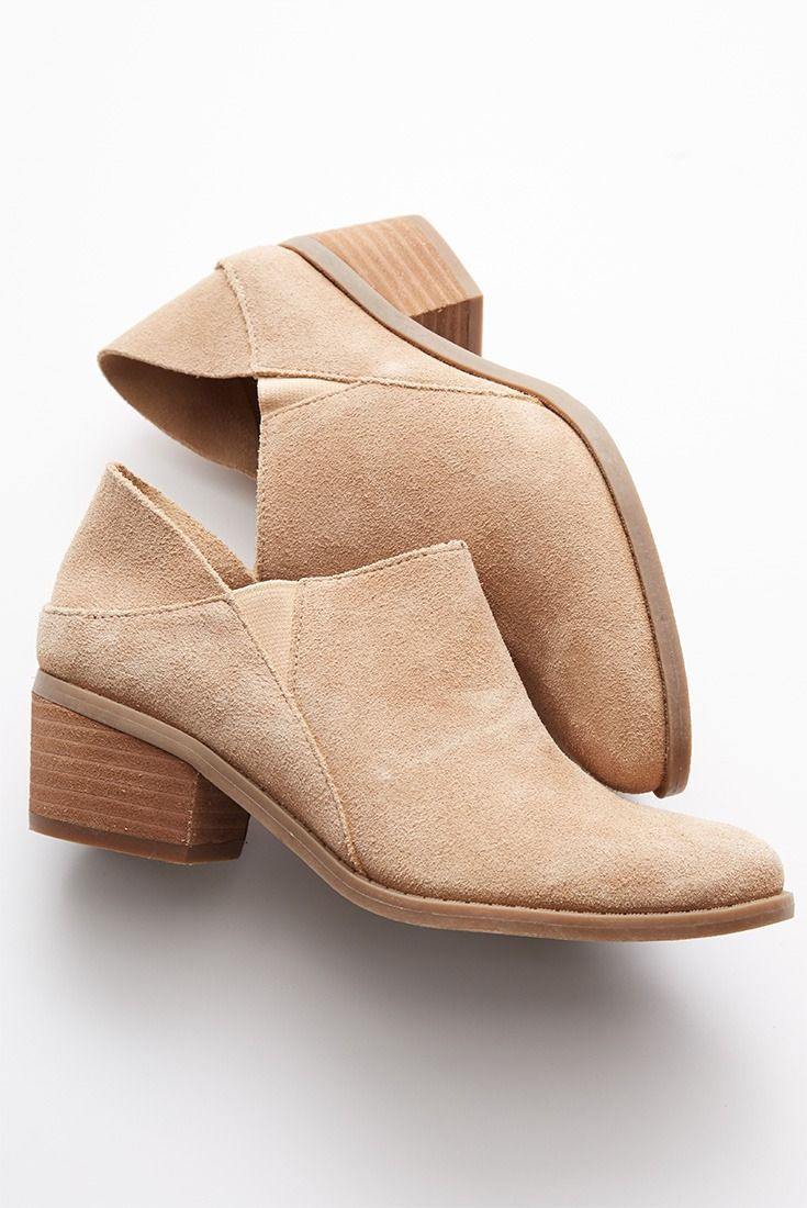 Pro tip: turn these booties into mules by pushing down the back!