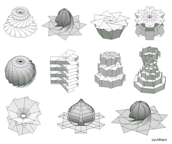 ORI-REVO: A Design Tool for 3D Origami of Revolution by Jun Mitani, Univ. of Tshkuba 2011