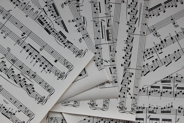 Vintage Sheet Music for Crafting A4 £3.50