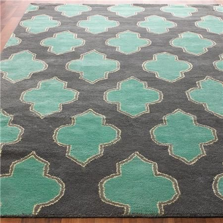 Floating Medallion Hand Tufted from Shades of Light, for dining room: Decor Ideas, Living Rooms, Color Combos, Area Rugs, Grey Wall, Hands Tufted, Home Decor, Pink Accent, Budget Friends