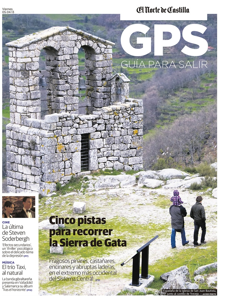 Portada del reportaje Cinco pistas para recorrer la Sierra de Gata, de Javier Prieto Gallego, en El Norte de Castilla. www.siempredepaso.es