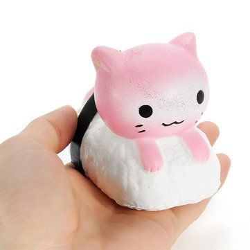 Squishy Sushi Cat Kitten 9.5cm Slow Rising Collection Gift Decor Soft Squeeze Toy