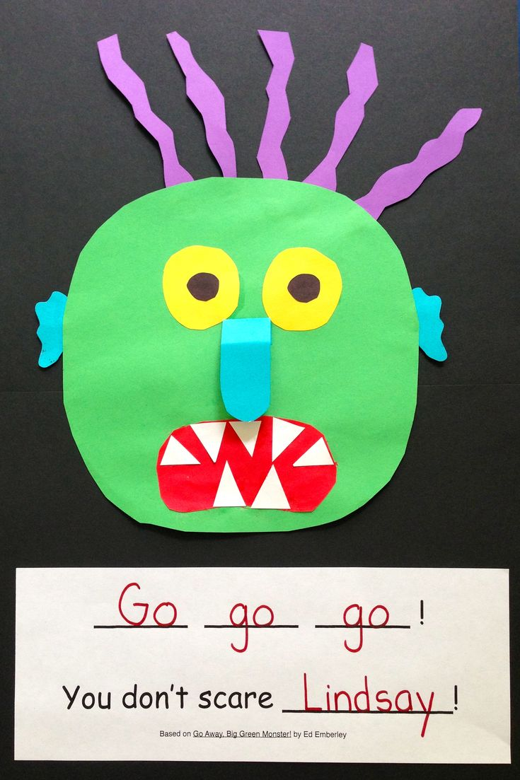 Based on Go Away, Big Green Monster! by Ed Emberly, this One-and-Done gives the students an opportunity to create their own big green monster!  Read one book one day, do one project and you're done! ($)