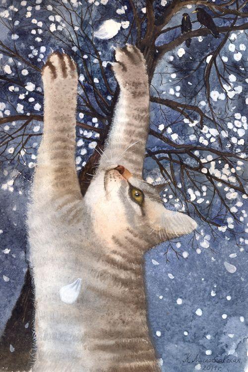 Сообщество иллюстраторов / Иллюстрации / Катя Милославская / в марте плачет сакура