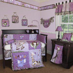 Custom Baby Girl Boutique - Safari 15 PCS Crib Bedding