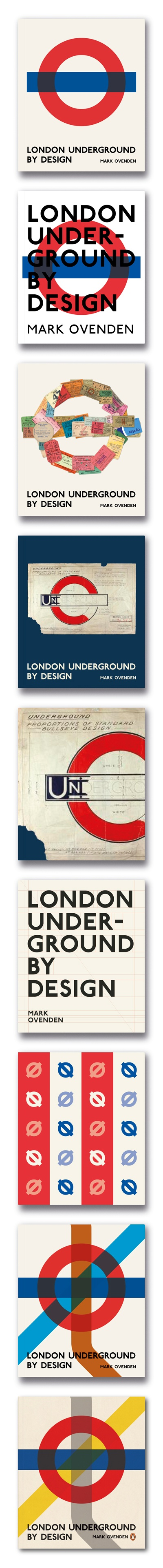 Had a lot of fun designing a cover for London Underground by Design. Here's a few work-in-progress shots.
