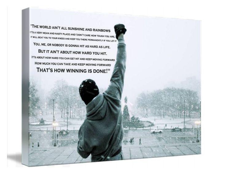 Rocky Balboa Movie Canvas Wall Art Huge Print A1