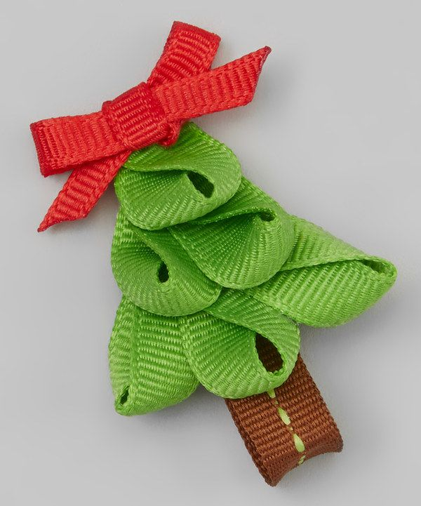 Look at this Light Green & Red Tree Hair Clip on #zulily today!
