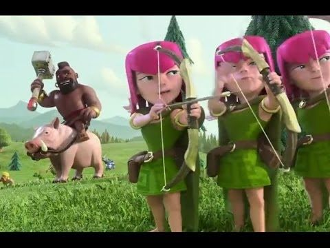 """CGI 3D Animated Trailer HD: """"Clash of Clans"""" by - Psyop Studios - YouTube  HOGRIDER!"""
