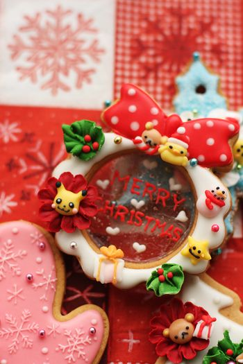 Rirakkuma cookie. お子様用クリスマスのアイシングクッキー : coupe-feti
