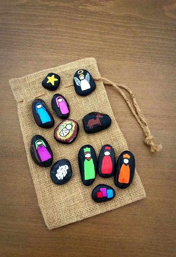 Nativity Scene Story Stones by starrygirlb on Etsy
