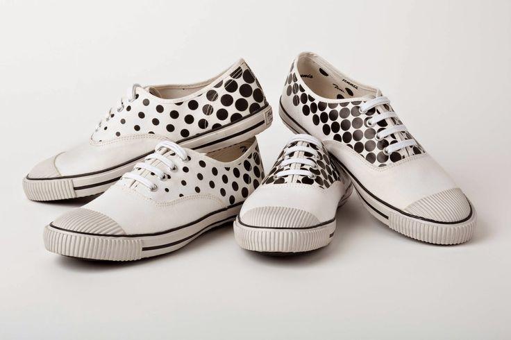 """Comme des Garçons For Bata Tennis """"Polka Dot"""" Sneakers. http://www.selectism.com/2014/12/02/comme-des-garcons-bata-tennis-shoe/"""