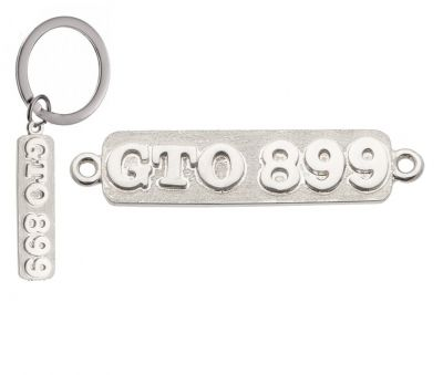 PERSONALISED PLATES - Sterling Silver or 9ct Gold