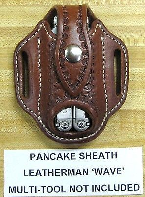 Custom Pancake Sheath for Leatherman WAVE Multi Tool in Collectibles, Knives, Swords & Blades, Folding Knives | eBay