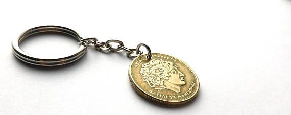 Greek keychain Coin keychain Alexander the Great Coins